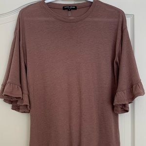 David Lerner T Shirt with Bell Sleeves